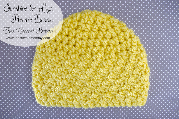 Sunshine And Hugs Preemie Beanie Free Crochet Pattern The