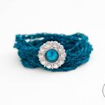 Teal Wrap Bracelet – Free Crochet Pattern