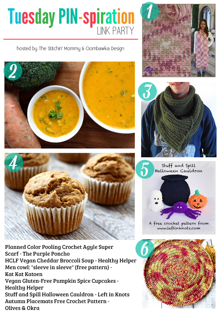 The NEW Tuesday PIN-spiration Link Party Week 14 (10/17/2016) - Rhondda and Amy's Favorite Projects   www.thestitchinmommy.com