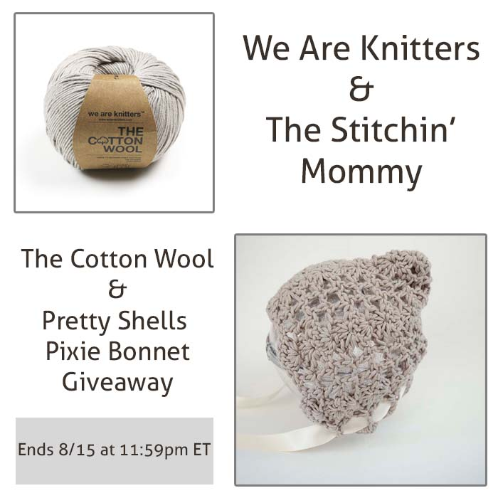 we are knitters the cotton wool and pretty shells pixie bonnet giveaway the stitchin mommy. Black Bedroom Furniture Sets. Home Design Ideas
