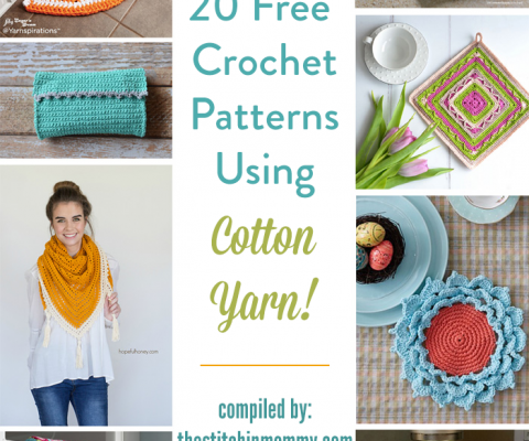 bce19c298 20 Free Crochet Patterns Using Cotton Yarn!