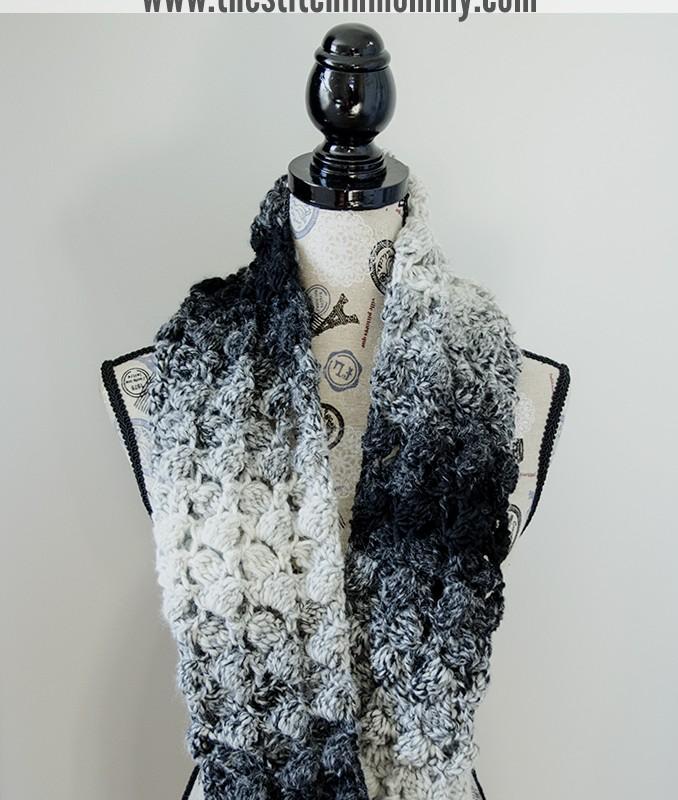 Fluffy Clusters Infinity Scarf – Free Crochet Pattern